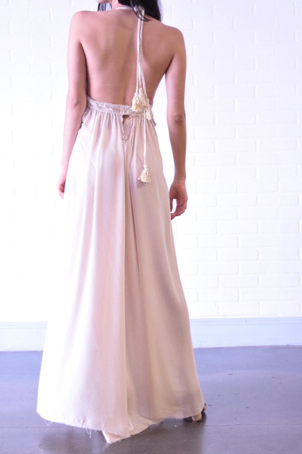 Coalition Backless Maxi Dress - Side Cropped Image