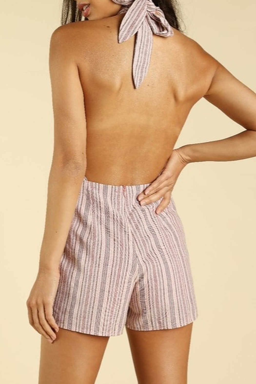 Wild Honey Backless Wrap Romper - Side Cropped Image