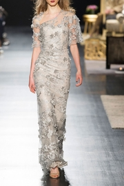 Badgley Mischka Floral Evening Gown - Front cropped