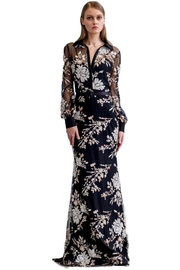 Badgley Mischka Long-Sleeve Sequin Dress - Product Mini Image