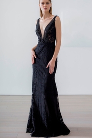 Badgley Mischka Plunging V-Neck Gown - Product Mini Image
