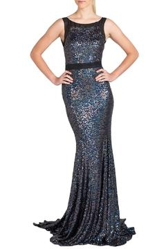 Badgley Mischka Sleeveless Sequin Gown - Product List Image