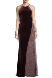 Badgley Mischka Velvet Lace Gown - Front cropped