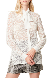 French Connection BAEN LACE NECK TIE BLOUSE - Product Mini Image