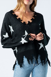 BaeVely Distressed Star Sweater - Product Mini Image