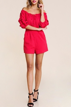 BaeVely Gingham Romper - Product List Image