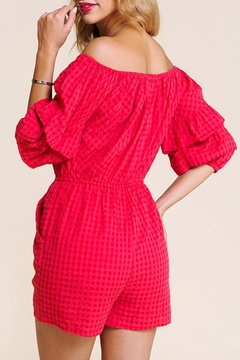 BaeVely Gingham Romper - Alternate List Image