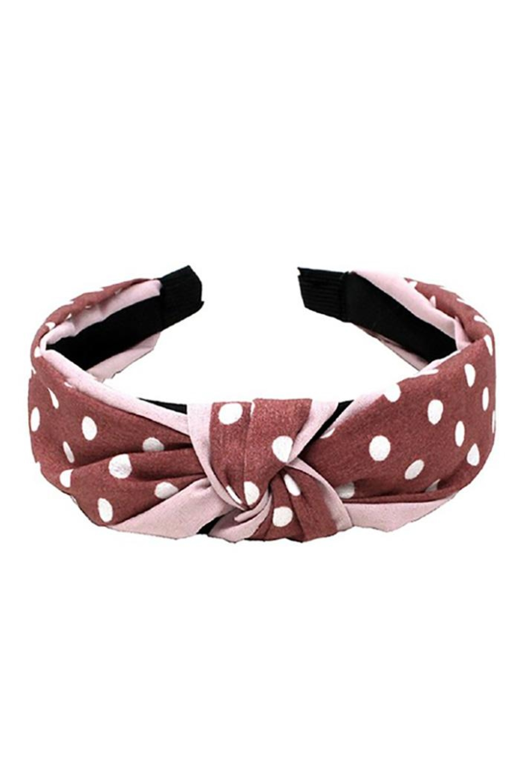 Bag Boutique Polka Dot Headband - Front Cropped Image