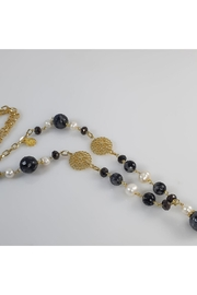 Baggis Accesorios Agata And Pearl Necklace - Front full body