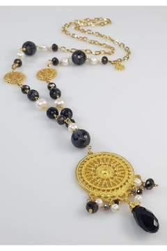 Shoptiques Product: Agata And Pearl Necklace
