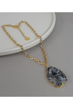 Baggis Accesorios Agata Geode Necklace - Product List Image