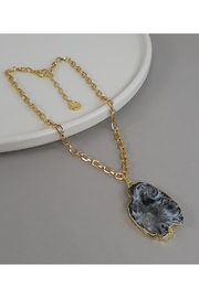 Baggis Accesorios Agata Geode Necklace - Product Mini Image