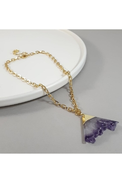 Baggis Accesorios Amethyst Pendant Necklace - Product List Image