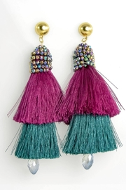 Baggis Accesorios Dobule Tassel Earrings - Product Mini Image