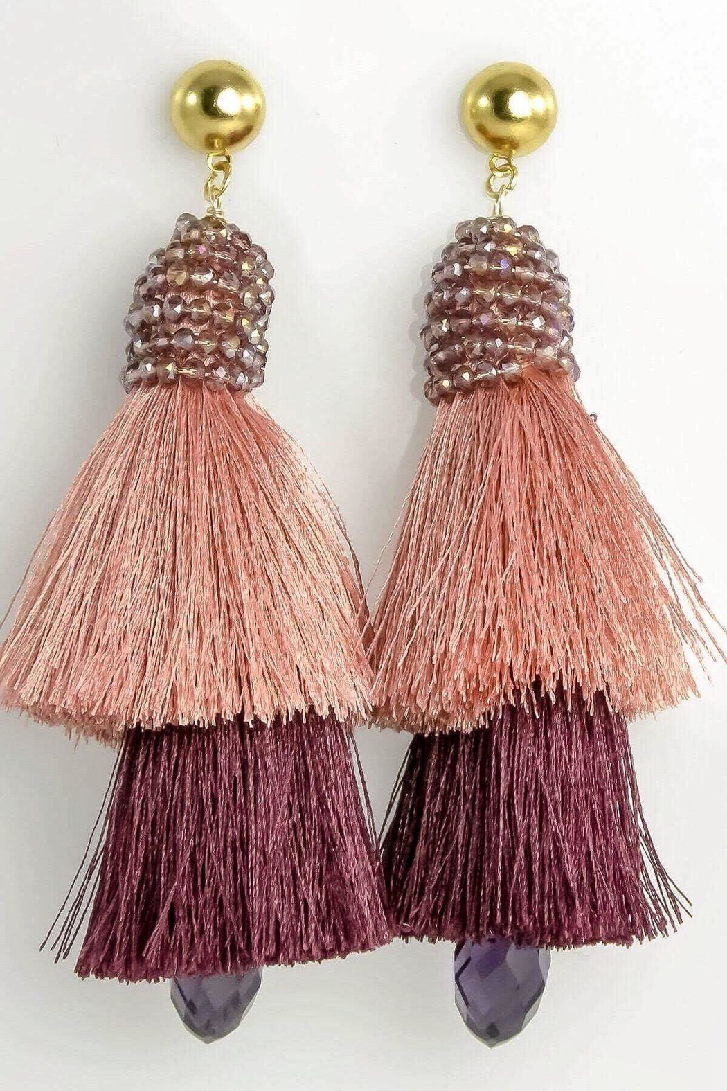 Baggis Accesorios Double Tassel Earrings - Main Image