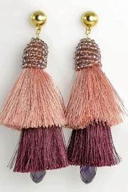 Baggis Accesorios Double Tassel Earrings - Front cropped