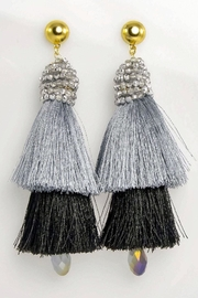 Baggis Accesorios Double Tassel Earrings - Product Mini Image