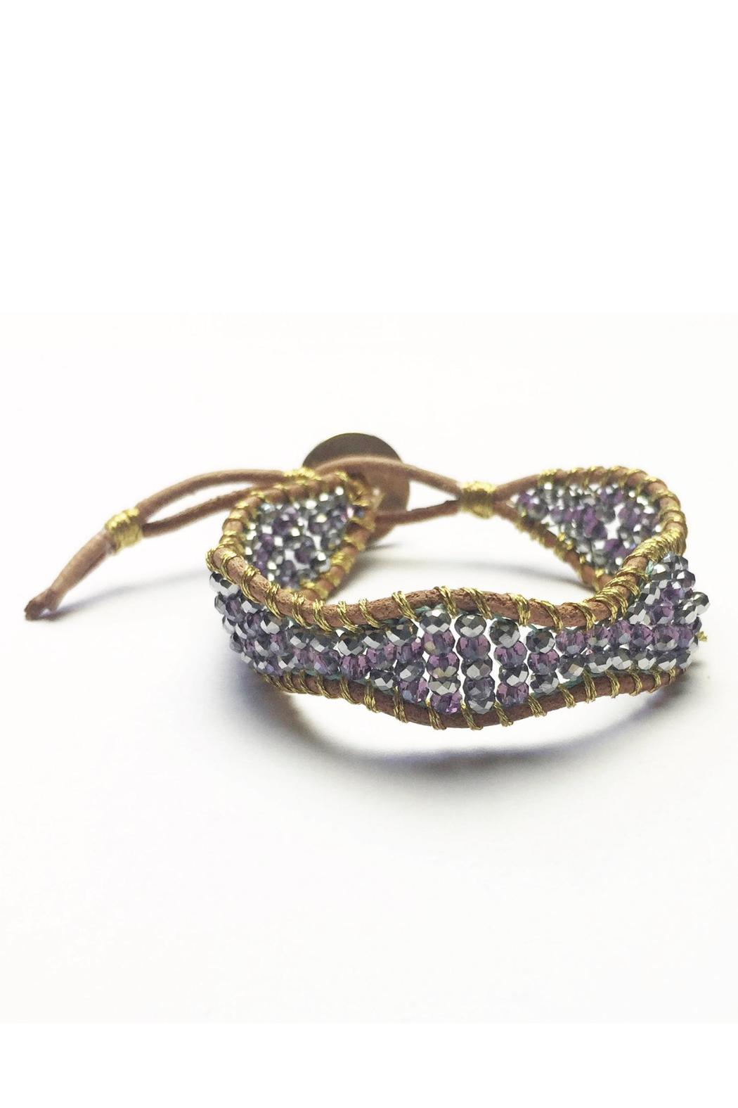 Baggis Accesorios Embroidered Crystal Bracelet - Main Image