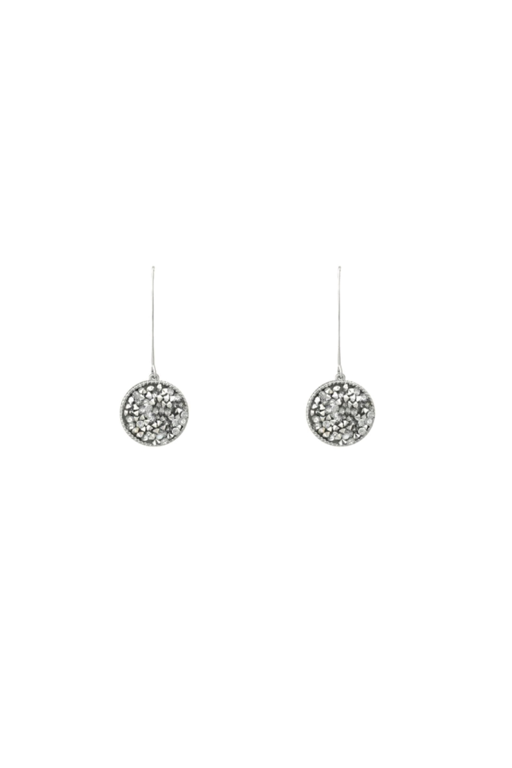Baggis Accesorios Glitter Earrings - Front Cropped Image