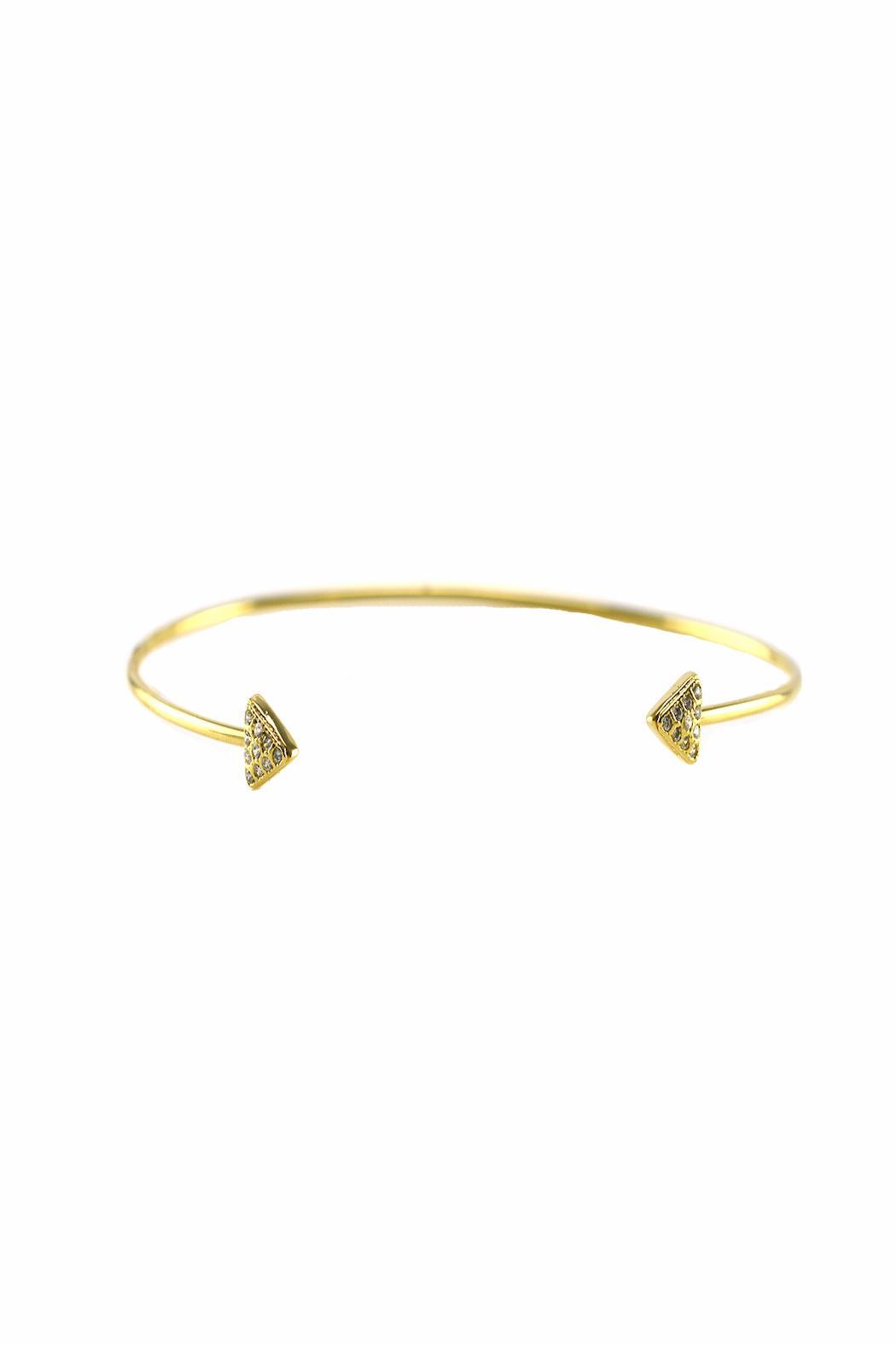 Baggis Accesorios Gold Plated Triangle Bracelet - Main Image