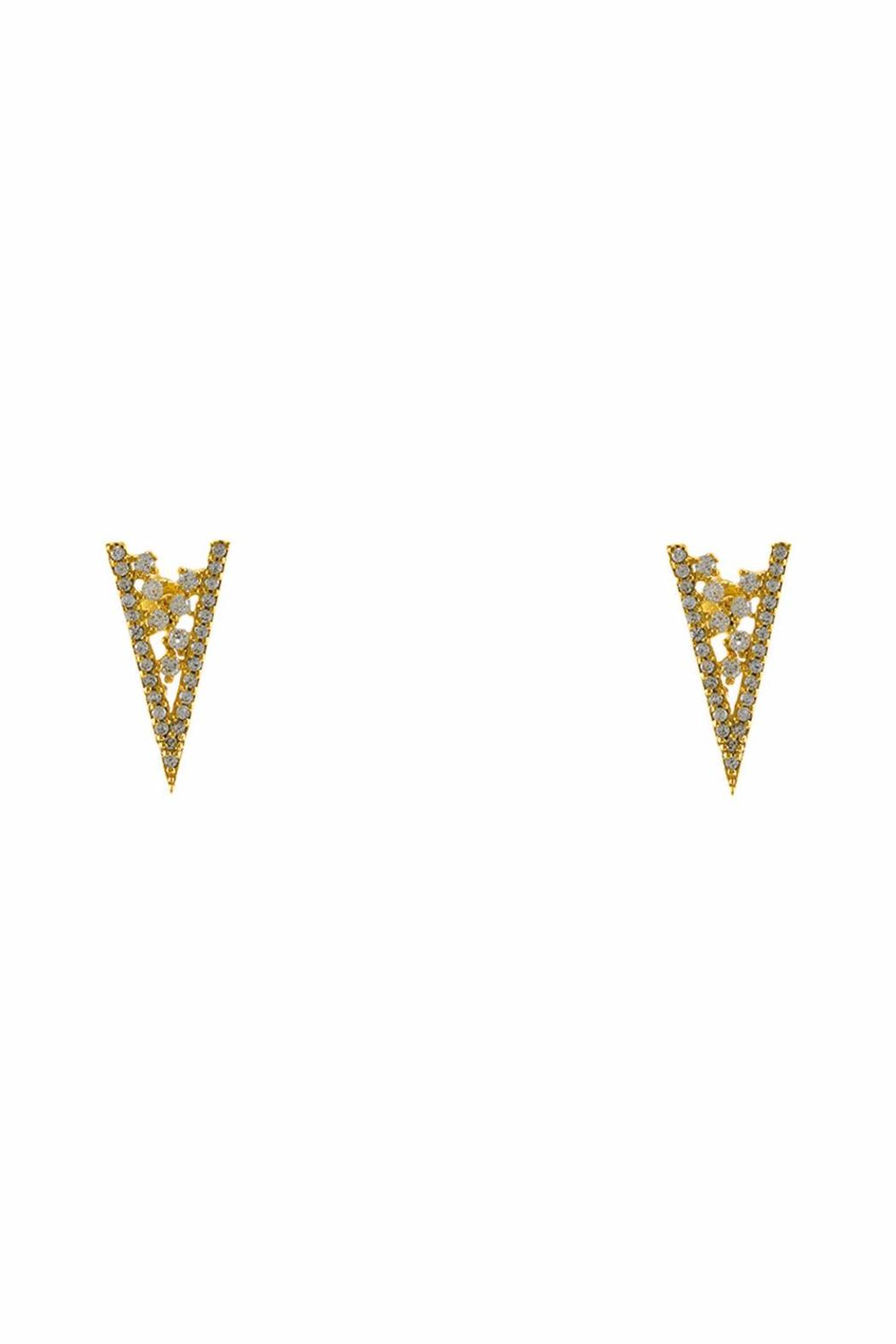 Baggis Accesorios Gold Plated Triangle Earring - Main Image