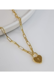 Baggis Accesorios Heart Pendant Necklace - Product Mini Image