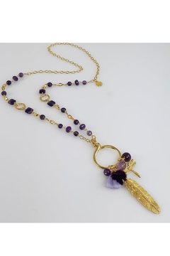 Baggis Accesorios Natural Amethyst Necklace - Product List Image