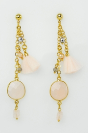 Baggis Accesorios Natural Stone Earrings - Front cropped