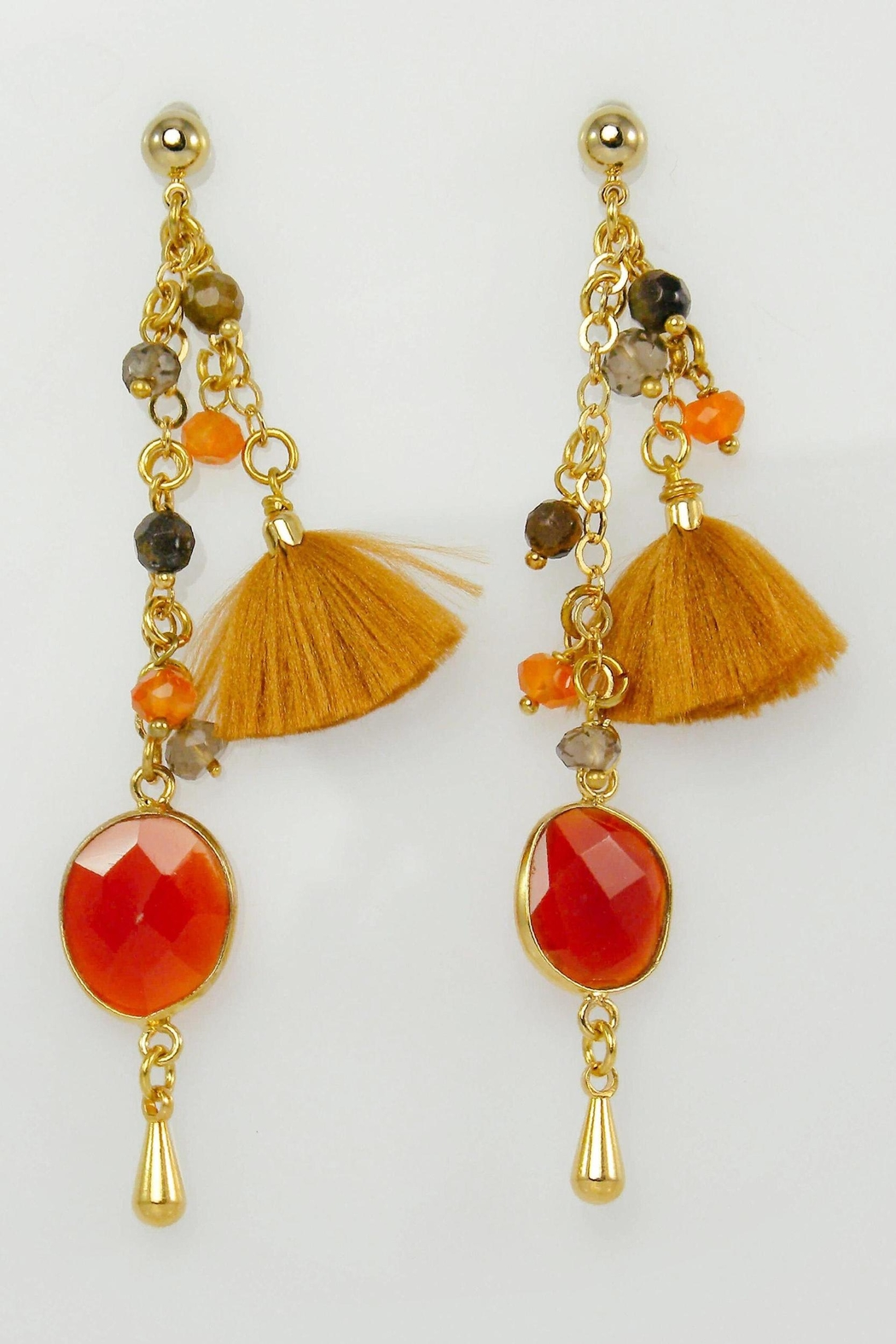 product rumi by sterling macrame jewelry sumaq earrings gemstones natural fire silver agate with stone gemstone
