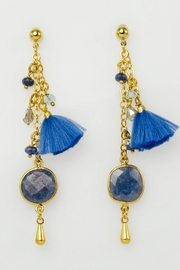 Baggis Accesorios Natural Stone Earrings - Product Mini Image