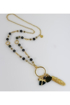 Shoptiques Product:  Olive Agate Necklace With Pendant