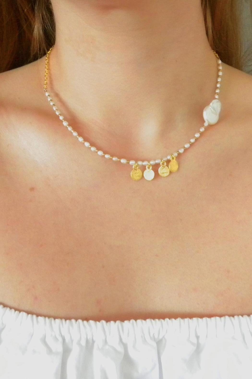 Baggis Accesorios Pearl Necklace - Front Full Image