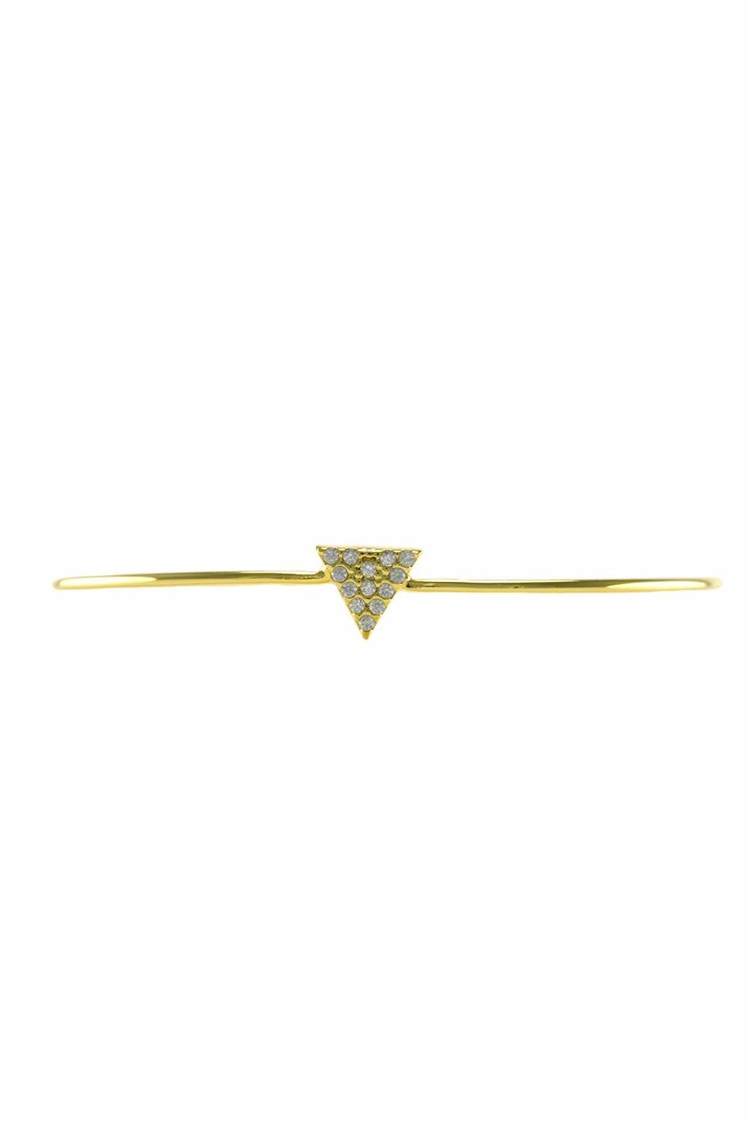 Baggis Accesorios Rhodium Triangle Bracelet - Front Cropped Image