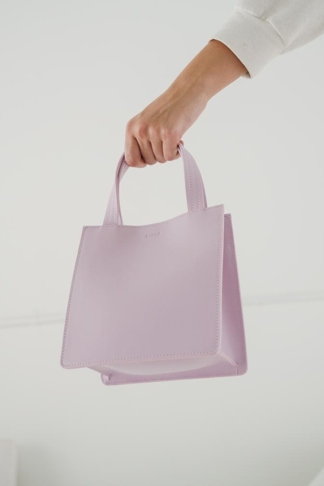Baggu Small Leather Tote - Front Full Image