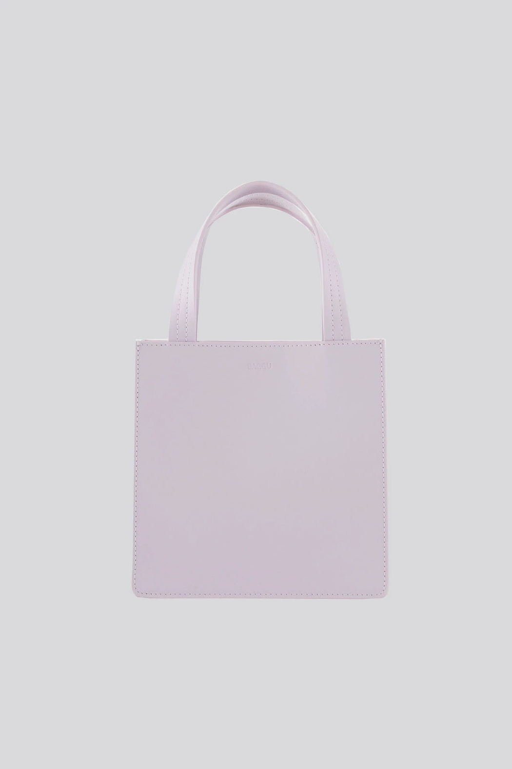 Baggu Small Leather Tote - Front Cropped Image