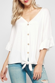 Bellamie Baggy Bell-Sleeved Front-Tie-Tee - Product Mini Image