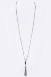 Nadya's Closet Baguette Cz & Tassel-Necklace - Product Mini Image