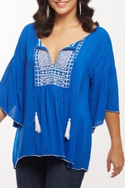 Baik Baik Lulu Blue Top - Product Mini Image