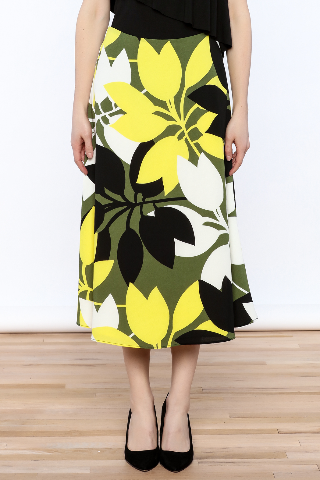 Bailey 44 A-Line Midi Skirt - Side Cropped Image