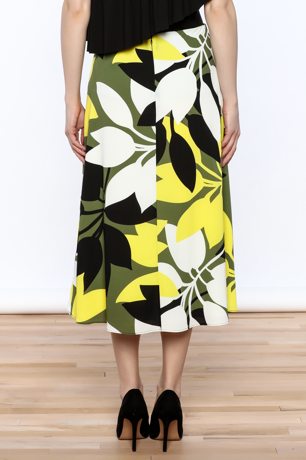 Bailey 44 A-Line Midi Skirt - Back Cropped Image