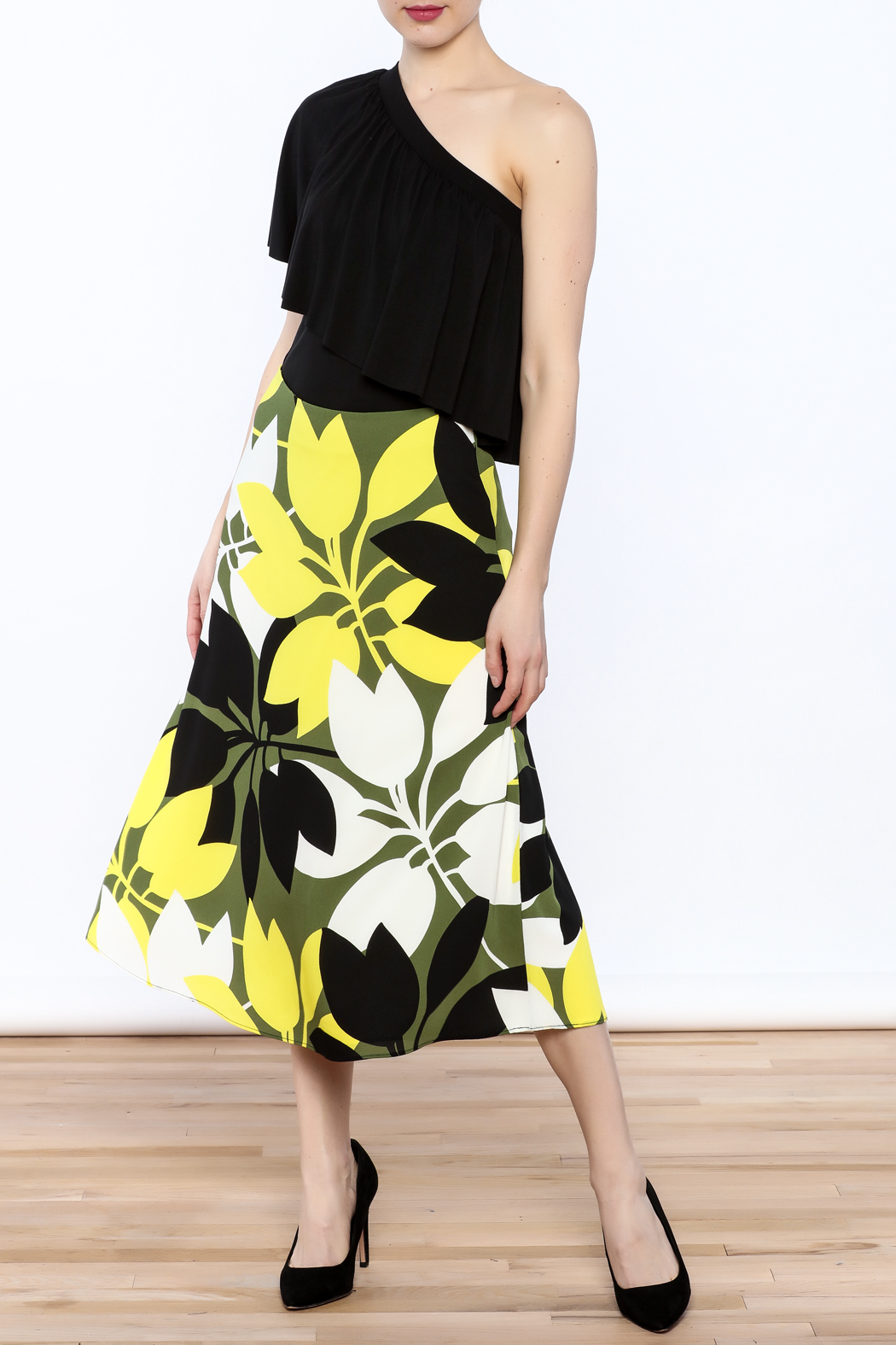 Bailey 44 A-Line Midi Skirt - Front Full Image