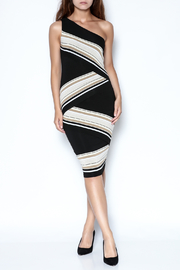 Bailey 44 One-Shoulder Striped Dress - Front full body