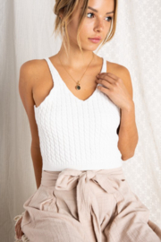 BaeVely Bailey Crop Sweater Tank - Product Mini Image
