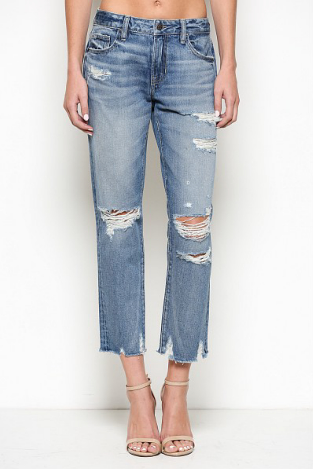 Hidden Jeans Bailey Distressed Boyfriend Jean - Main Image