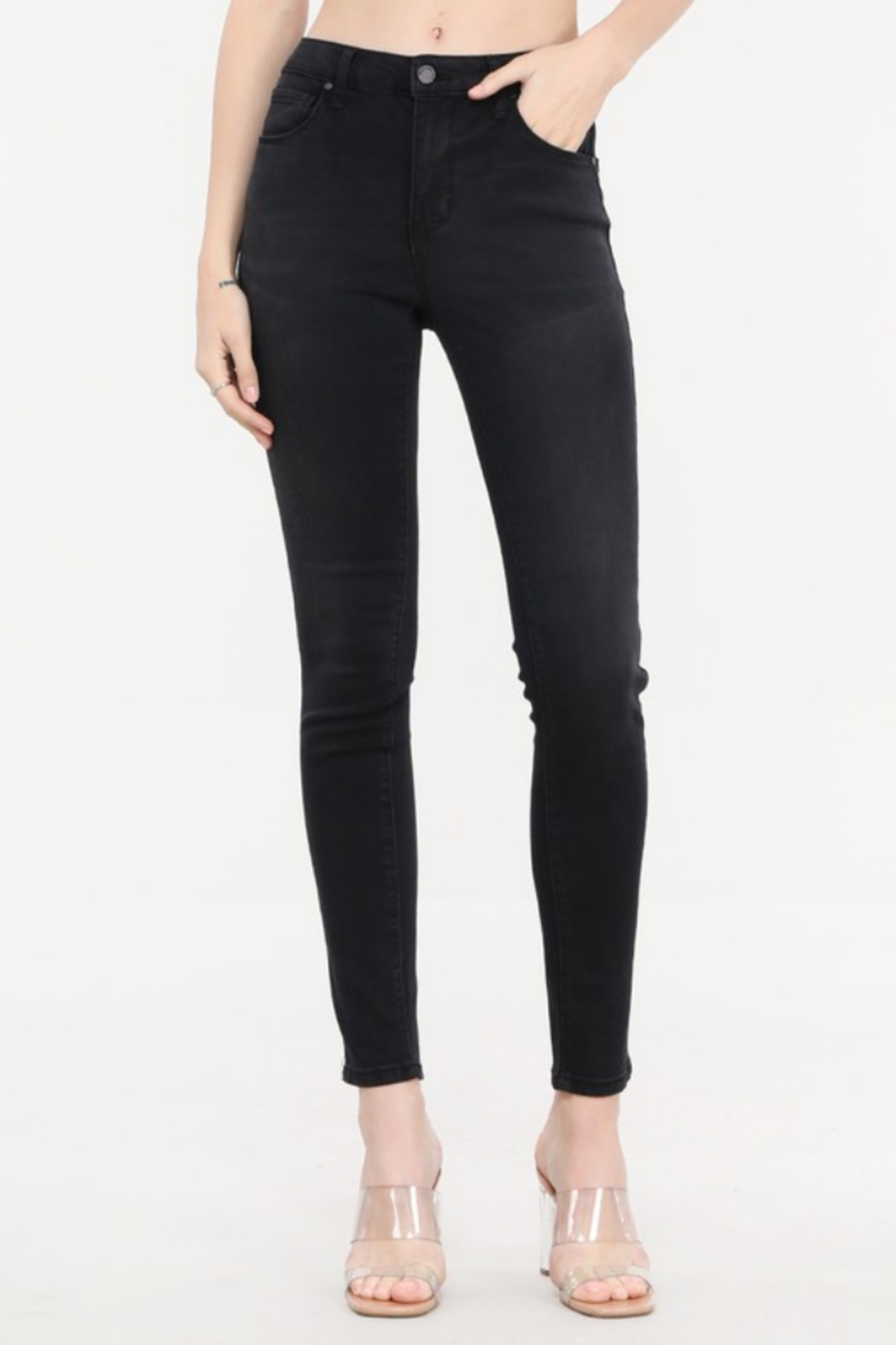 Cest Toi Bailey Mid Rise Skinny Jean - Main Image