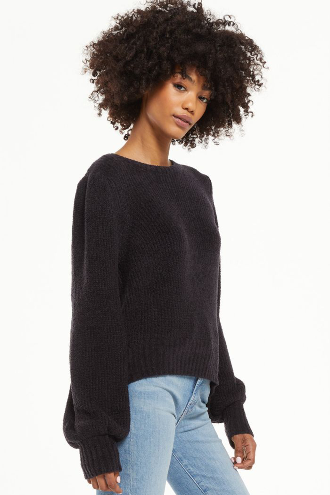 z supply  Bailey Puff Sleeve Sweater - Front Full Image