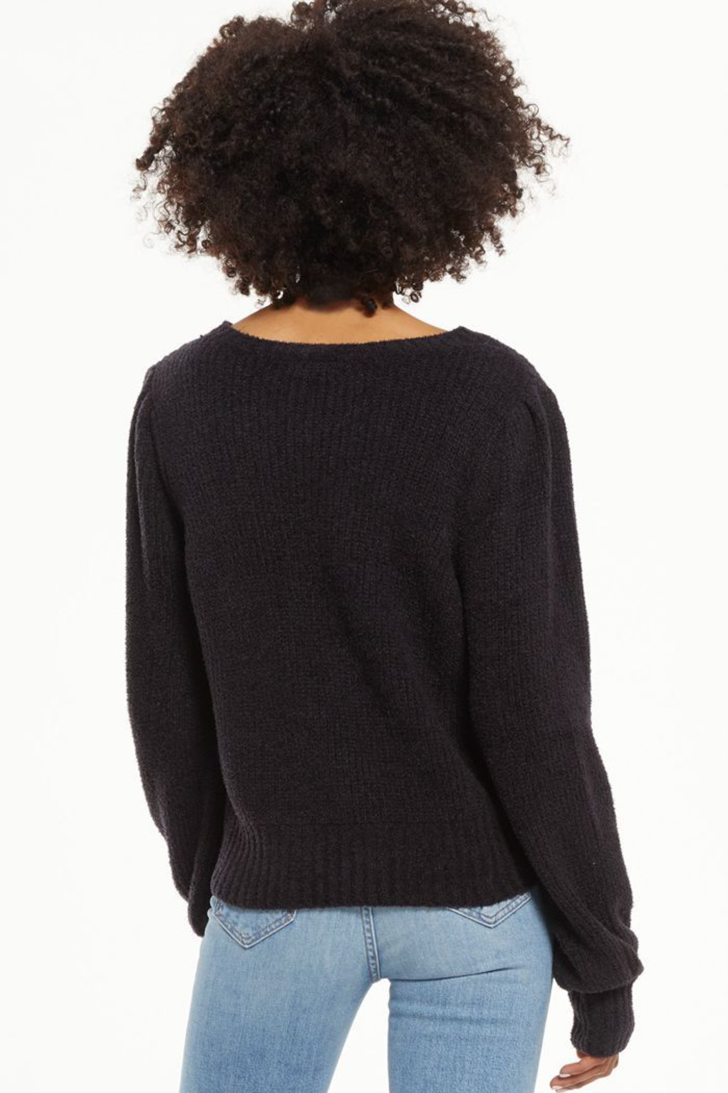 z supply  Bailey Puff Sleeve Sweater - Side Cropped Image