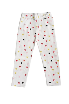 Bailey's Blossoms Printed Hearts Leggings - Alternate List Image