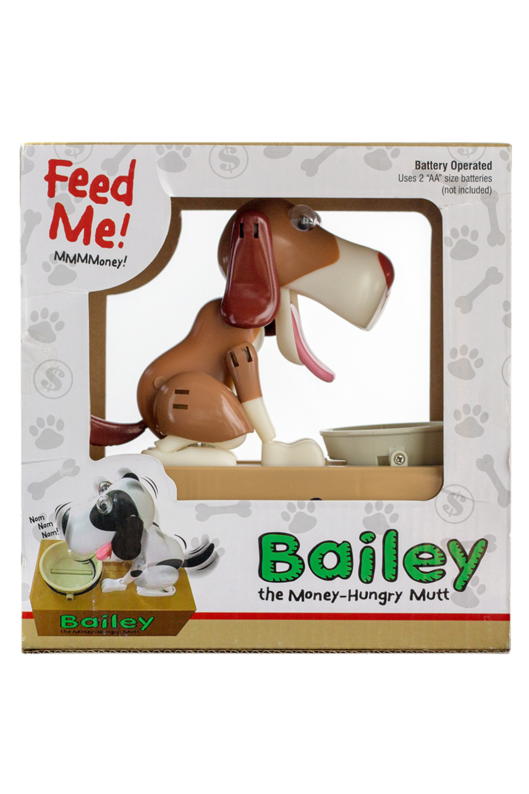 Leading Edge Novelty Bailey The Money-Hungry Mutt - Back Cropped Image