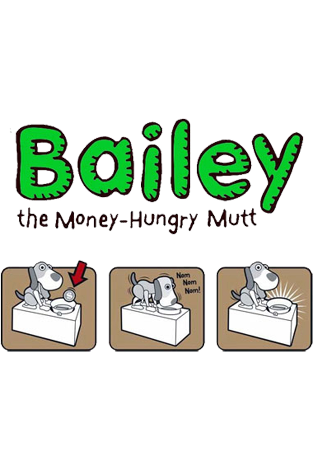 Leading Edge Novelty Bailey The Money-Hungry Mutt - Front Full Image